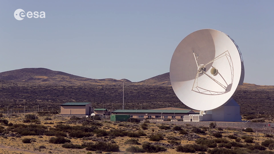 Profile of ESA's deep-space tracking station in Malargüe, Argentina