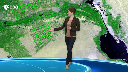 This animation shows two harvest seasons in 2012 in the eastern Nile Delta.