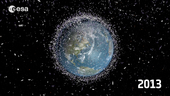 ESA's 2013 space debris video, produced by the Space Debris Office at ESA/ESOC, Darmstadt, Germany