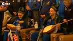 [2/4] Welcoming ceremony for Expedition 37