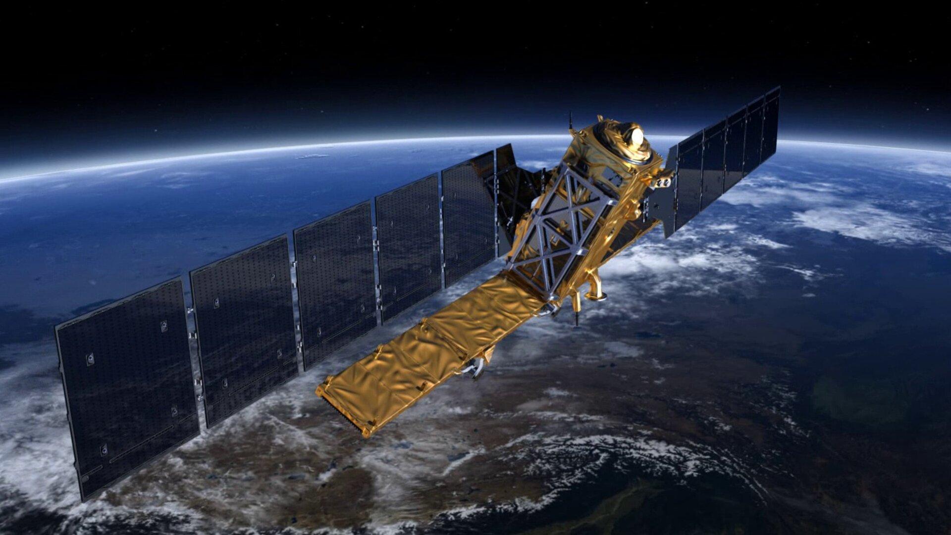 Sentinel-1 na orbicie.