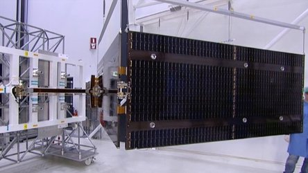 Test deployment of a Galileo solar wing in Dutch Space's cleanroom