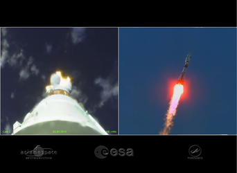 On-board cameras captured this footage from liftoff to separation
