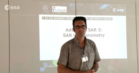 Lecture on SAR interferometry with R. Hanssen from TU Delft in the Netherlands