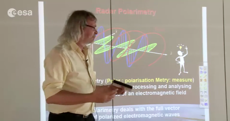 Lecture on SAR polarimetry by E. Pottier from France's University of Rennes