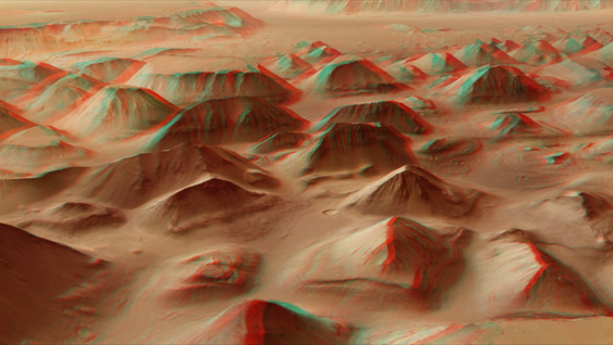 Fly over Mars in 3D