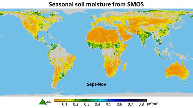 Mapping moisture / SMOS / Observing the Earth / Our Activities / ESA
