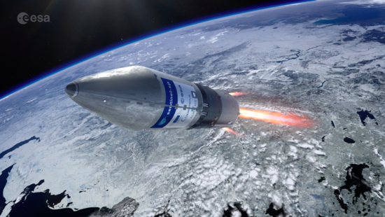 Sentinel-5P is lofted into orbit on a Rockot launcher from the Plesetsk Cosmodrome in northern Russia.