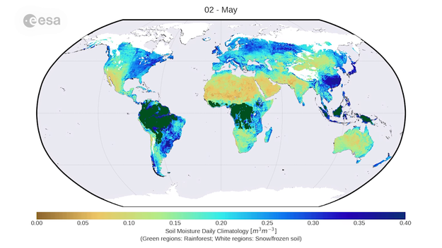 Humidity World Map.Nearly Four Decades Of Soil Moisture Data Now Available Space For