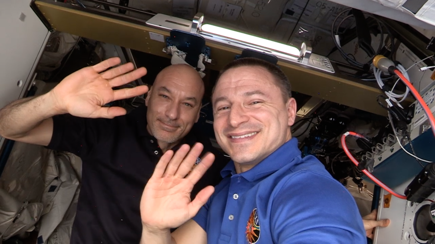 Grand tour of the International Space Station with Drew and Luca