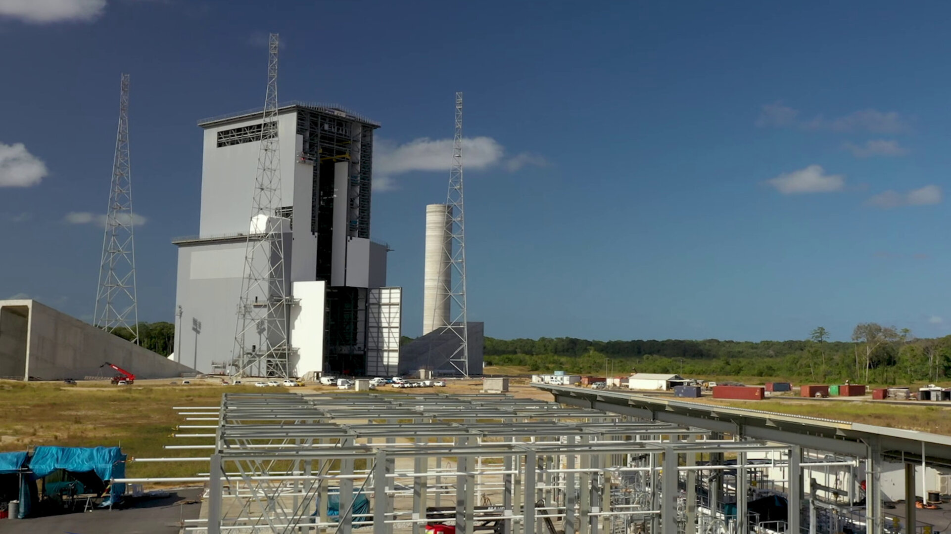 Take a tour the Ariane 6 launch facilities filmed on 1 March 2020 at Europe's Spaceport.