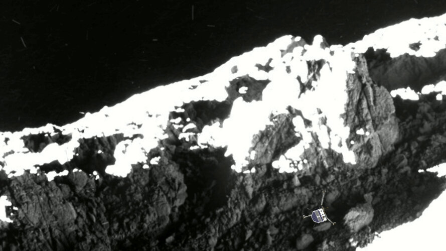 Philae's second touchdown site discovered at 'skull-top' ridge