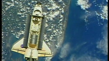 highlights of the STS-100 mission to the ISS in 2001